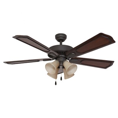 "52"" Winchester 4 Light 5 Blade Ceiling Fan Product Photo"