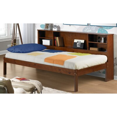 Cherokee Twin Slat Bed with Bookcase by Donco Kids