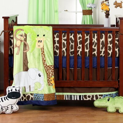 Jazzie Jungle Boy Infant 3 Piece Crib Bedding