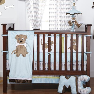 Puppy Pal Boy Infant 4 Piece Crib Bedding