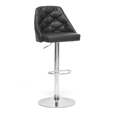 Wholesale Interiors Baxton Studio Adjustable Height Swivel Bar Stool with Cushion