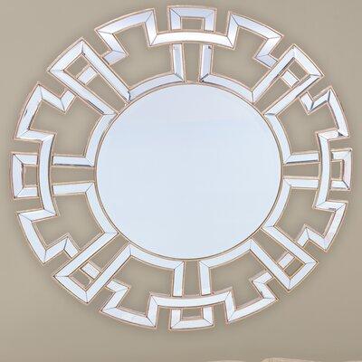 Baxton Studio Ulmer Round Wall Mirror with Golden Trim by Wholesale Interiors