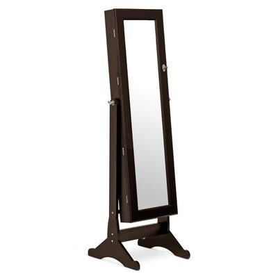 Wessex floor mirror with jewelry armoire