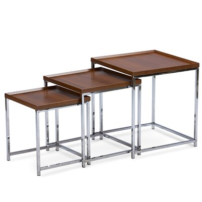 Baxton Studio 3 Piece Nesting Tables by Wholesale Interiors