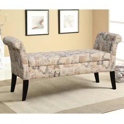 Baxton Studio Upholstered Storage Bedroom Bench by Wholesale Interiors