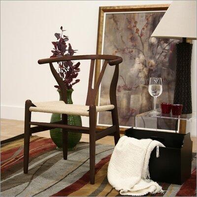 Baxton Studio Wishbone Chair in Dark Brown by Wholesale Interiors