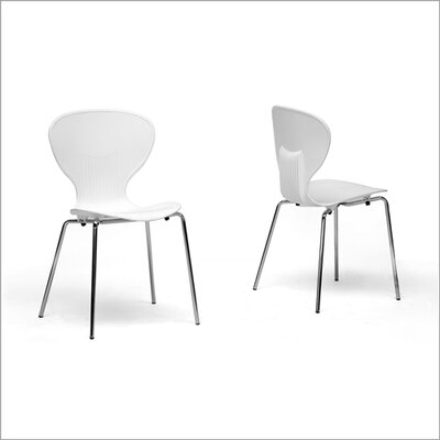 Baxton Studio Boujan White Plastic Modern Dining Chair by Wholesale Interiors
