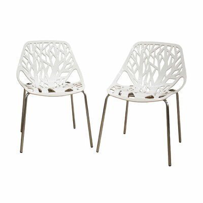 Baxton Studio Birch Sapling Dining Chair in White by Wholesale Interiors