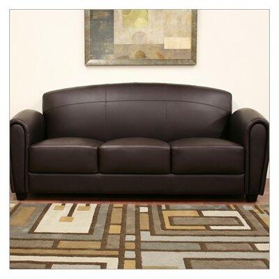 Baxton Studio Sally Leather Sofa by Wholesale Interiors