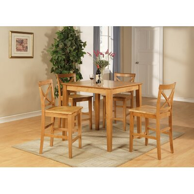 5 Piece Counter Height Pub Table Set by East West