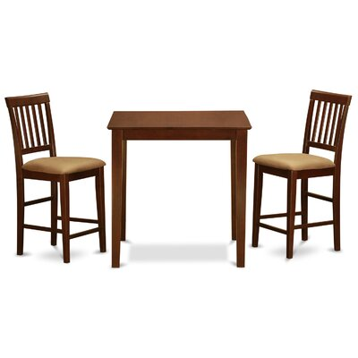 Vernon 3 Piece Counter Height Dining Set by Wooden Importers