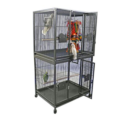 Large Double Bird Cage by A&E Cage Co.