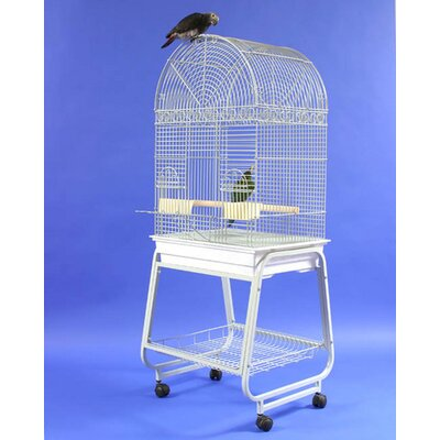 Dome Top Bird Cage with Plastic Base and Stand by A&E Cage Co.