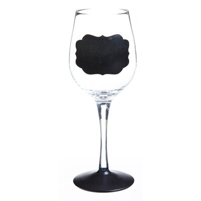 Chalk One Up Chalk Base Hand Painted Wine Glass by Cypress