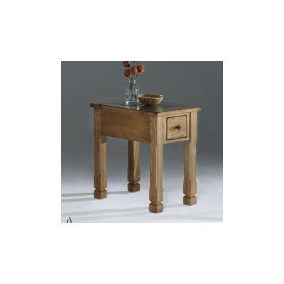 Rustic Ridge Chairside Table by Progressive Furniture