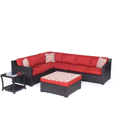 Metropolitan 6 Piece Lounge Seating Group Set with Cushion by Hanover