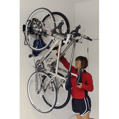 Gear Up Inc. Black Series 2 Bike Vertical Wall Mount with Basket