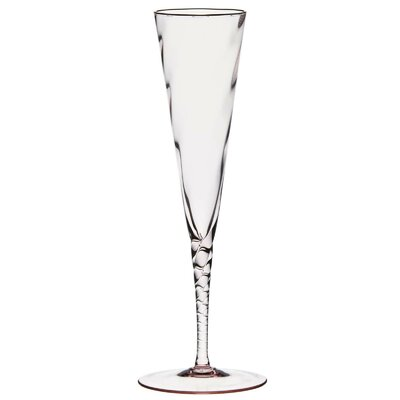Twisted Champagne Glass by Martinka Crystalware