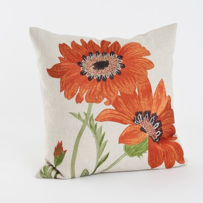 Embroidered Throw Pillow by Saro