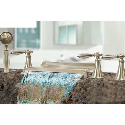 Kokols Triple Handle Deck Mount Waterfall Tub Filler with Handshower