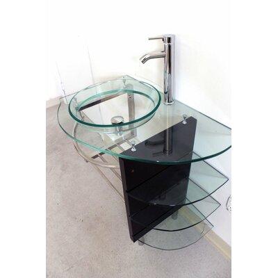 """32"""" Single Vessel Bathroom Vanity Set Product Photo"""