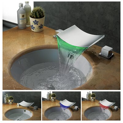 Double Handle Widespread Vessel Sink Faucet Product Photo