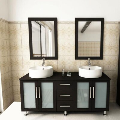 Kokols 60 Double Bathroom Vanity Set With Mirror Reviews Wayfair