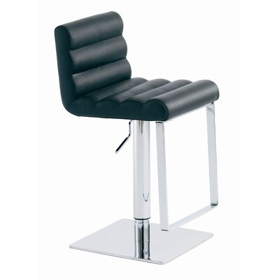 Nuevo Fanning Adjustable Height Swivel Bar Stool with Cushion