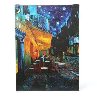 """Trademark Fine Art """"Cafe Terrace"""" Painting Print on Wrapped Canvas by Vincent Van Gogh"""