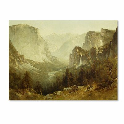 'Hunting In Yosemite 1890' by Thomas Hill Painting Print on Canvas by Trademark Art