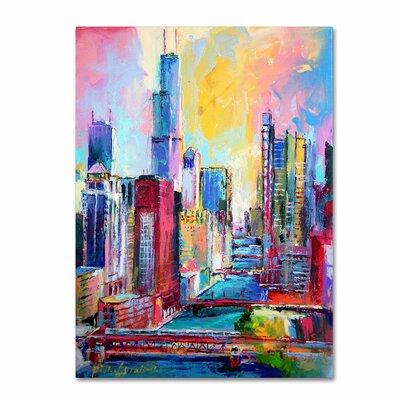 'Chicago 3' by Richard Wallich Canvas Art by Trademark Art