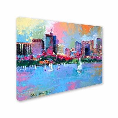 'Boston 3' by Richard Wallich Canvas Art by Trademark Art