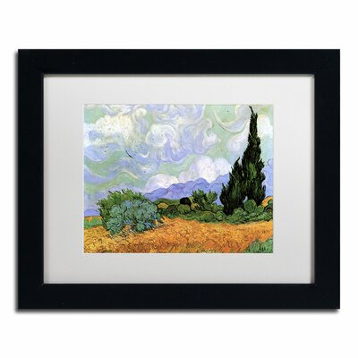 Wheatfield with Cypresses, 1889 Canvas Art by Vincent van Gogh by Trademark Art
