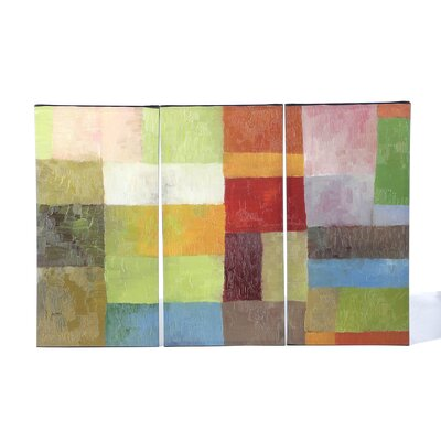 Trademark Fine Art Color Panels IV  3 Panel Canvas Art by Michelle Calkins