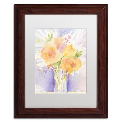 Purple Vase Reflection by Sheila Golden Framed Painting Print by Trademark Art