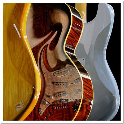 """Trademark Fine Art """"Music Store"""" by Roderick Stevens Painting Print on Wrapped Canvas"""