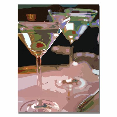Trademark Fine Art 'Two Martini Lunch' by David Lloyd Glover Painting Print on Canvas