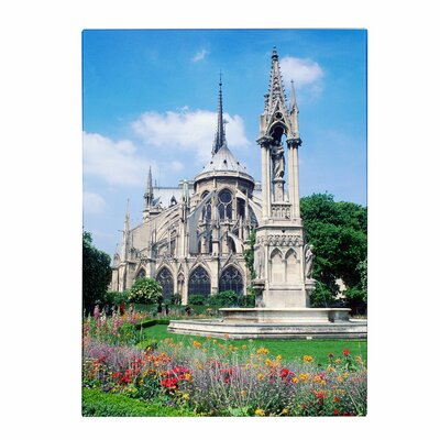 'Notre Dame in Spring' by Kathy Yates Photographic Print on Canvas by Trademark Art