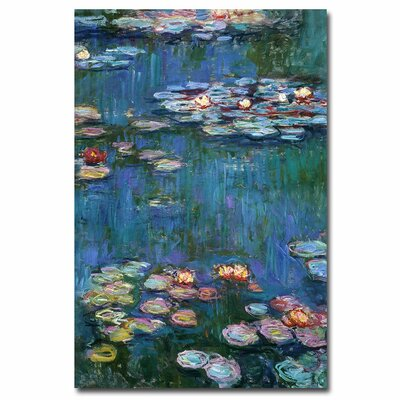 """Trademark Fine Art """"Waterlilies Classic"""" by Claude Monet Painting Print on Canvas"""