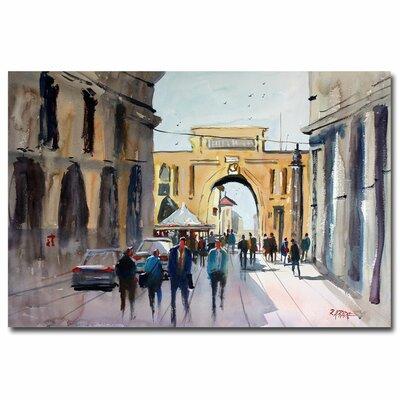 'Italian Impressions IV' by Ryan Radke Painting Print on Canvas by Trademark Art