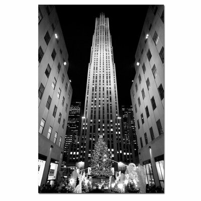 'Rockefeller Night' by Yale Gurney Photographic Print on Canvas by Trademark Art