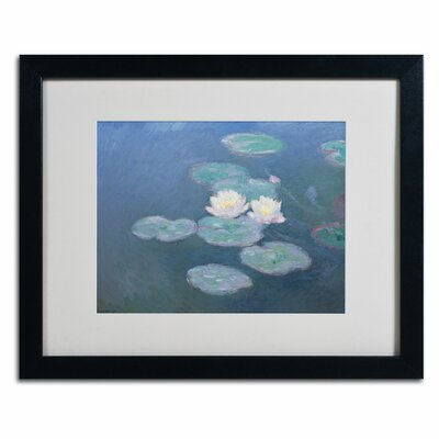 Waterlilies Evening Canvas Art by Claude Monet by Trademark Art