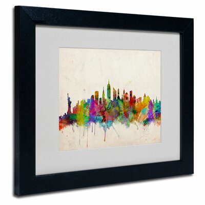 trademark art quotnew york skylinequot by michael tompsett With kitchen cabinets lowes with wall art new york skyline
