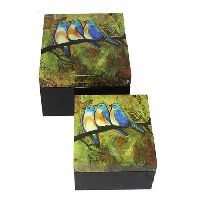 2 Piece Painting on MDF Box Set by Entrada