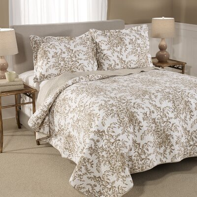 Bedford Reversible Cotton Coverlet in Mocha by Laura Ashley Home