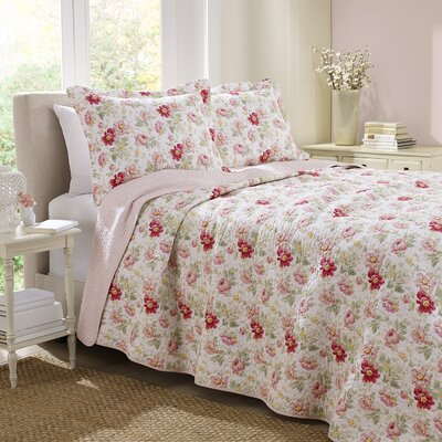 Laura Ashley Home Peony Garden Rose Quilt Set Reviews Wayfair