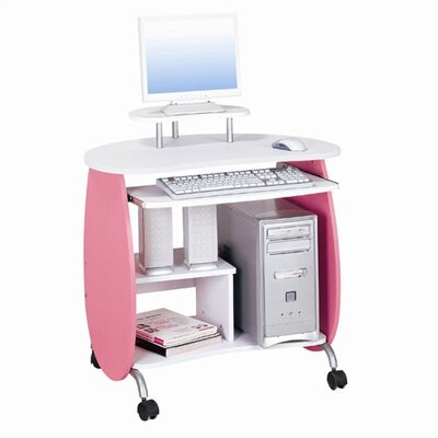 Techni Mobili Compact Computer Desk With Keyboard Tray
