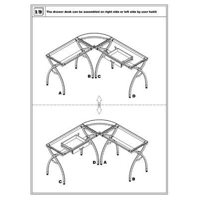 Techni Mobili L Shaped Computer Desk