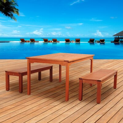 Amazonia Thales 3 Piece Dining Set by International Home Miami