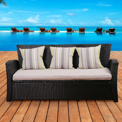 Atlantic Biscayne Sofa with Cushions by International Home Miami